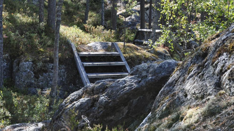 pyhävuorella portaat