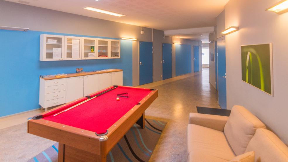 hostelli antin tupa jääskän loma biljardipöytä aulassa