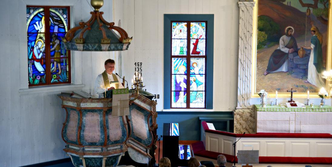 Nurmon kirkko sisältä