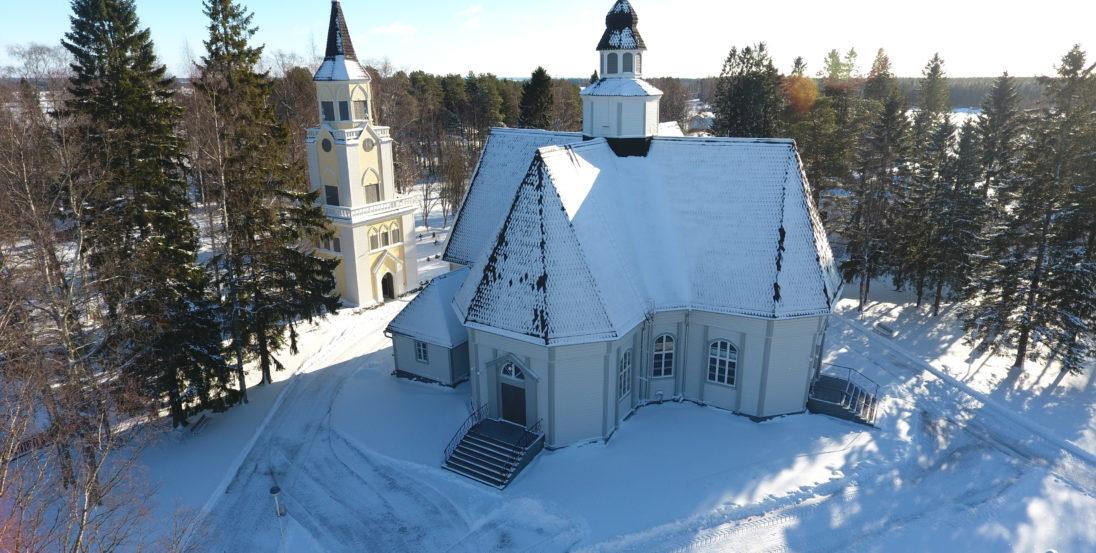 Ylihärmän kirkko Kauhavalla talvella Visit Lakeus