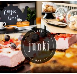 Cafe Junki Bar kuvakollaasi ja logo
