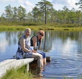 Lauhanvuori - Hämeenkangas UNESCO Global Geopark visit lakeus jalat vedessä kesällä