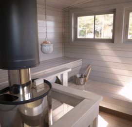 Saunalautta Fin Karhu - Saunatilat sisältä